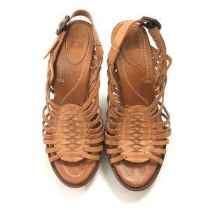 Frye Woven Heels Sandals Shoes Size 6.5